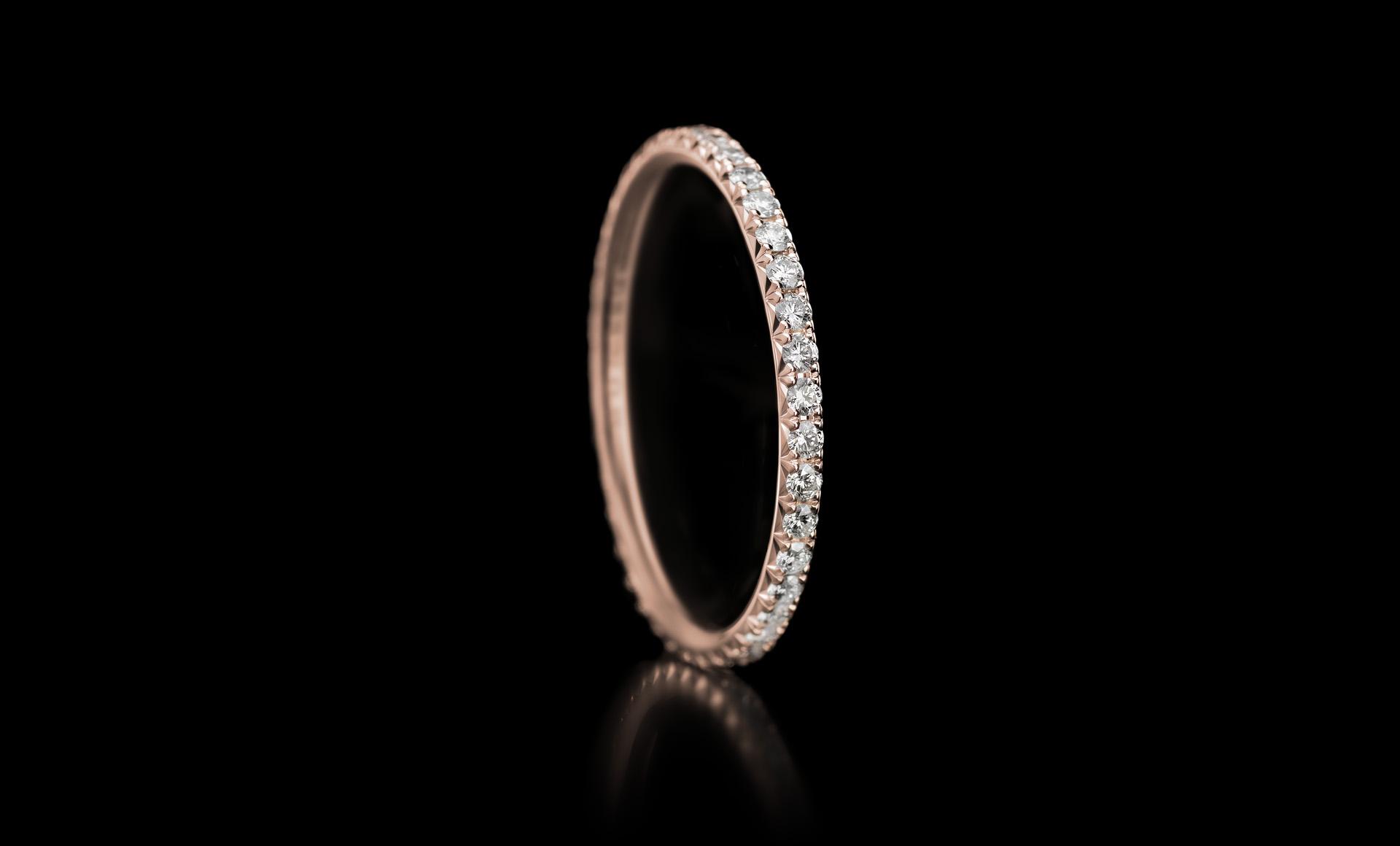Halo No.1 diamond ring rose