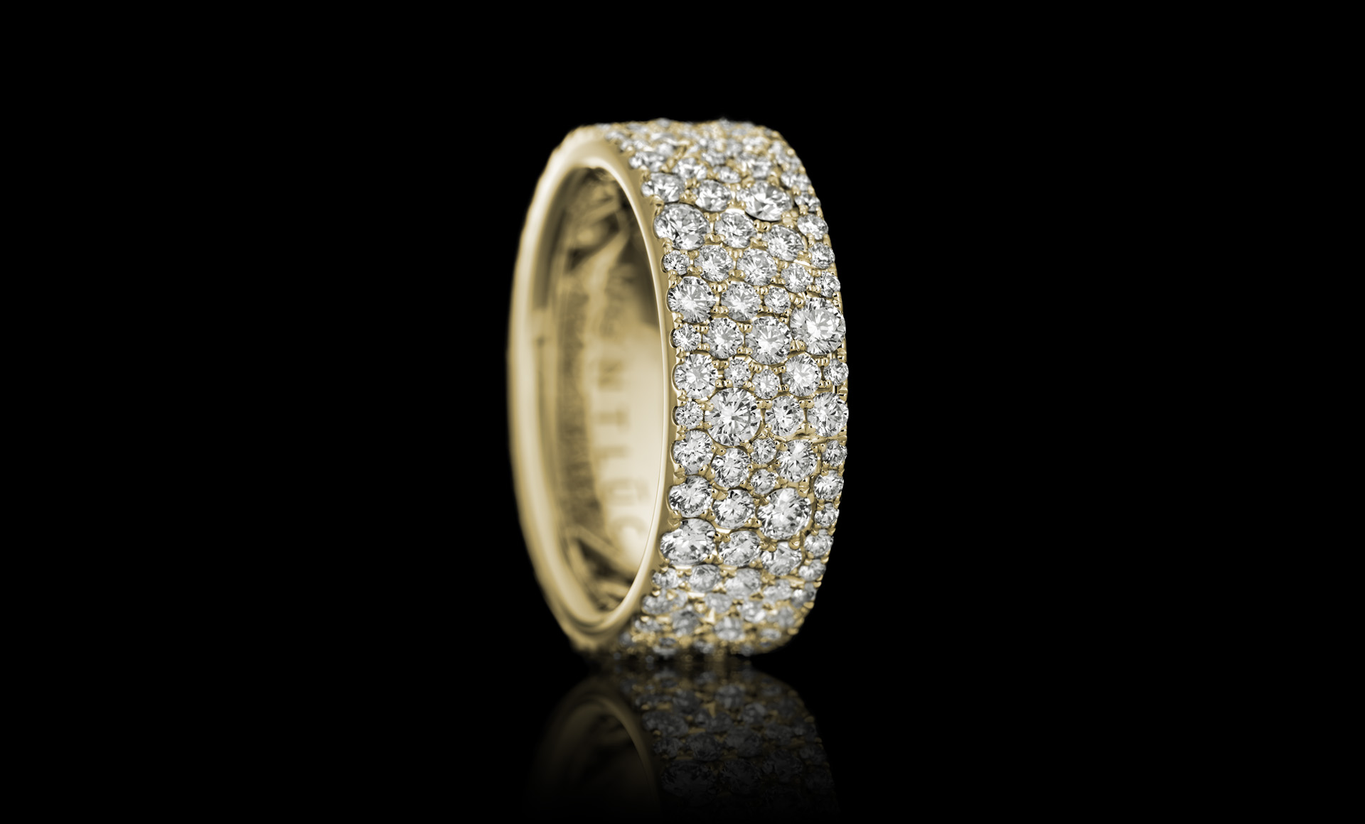 Constellation No.1 diamond ring yellow gold