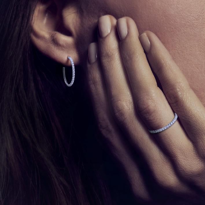 Montluc - Halo No.2 diamond earring showcase