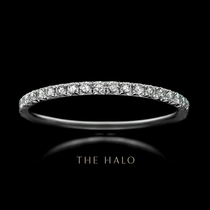 Montluc - The Halo. Eternity ring, full set in diamond - set with a continuous line of perfectly selected, round cut diamonds.