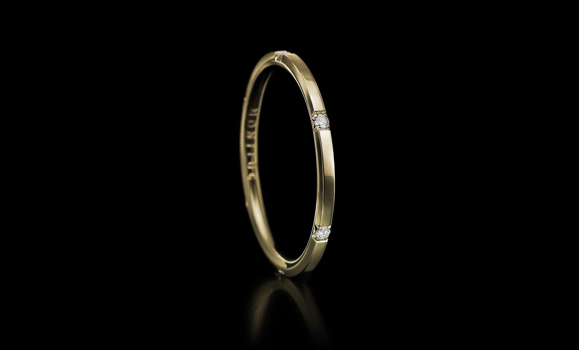 Halo No.3 diamond ring gold
