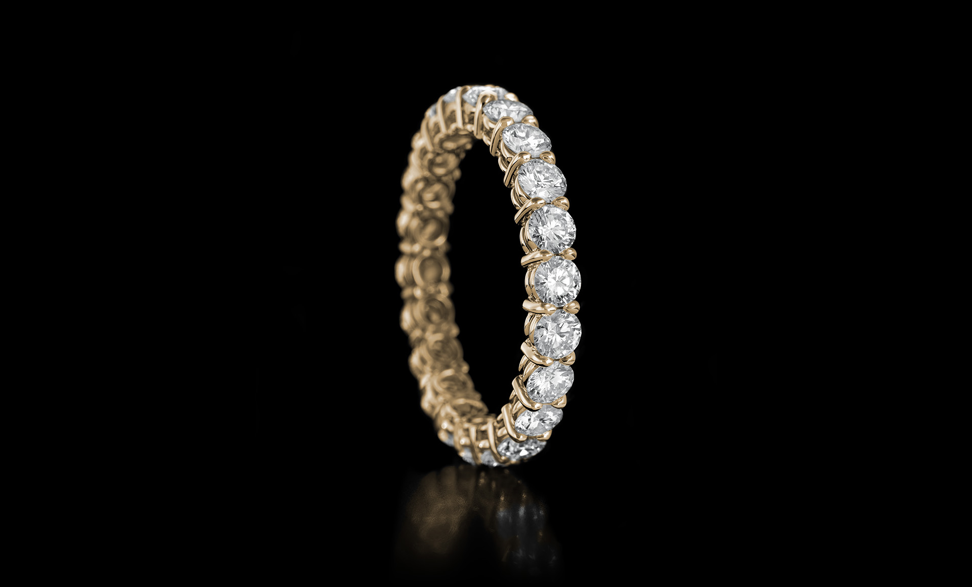 Gravity No.1 diamond ring yellow gold