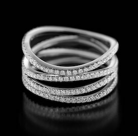 Spiral No.1 - beautifully sculpted, playfully elegant diamond ring with a difference