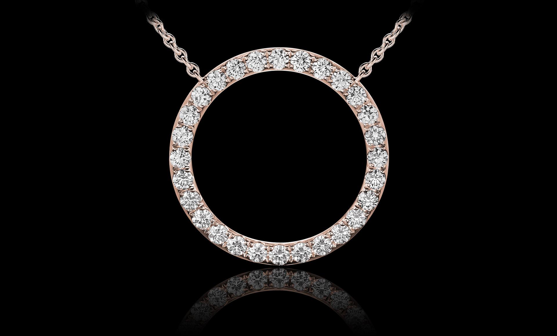 Orbit No.1 diamond pendant rose