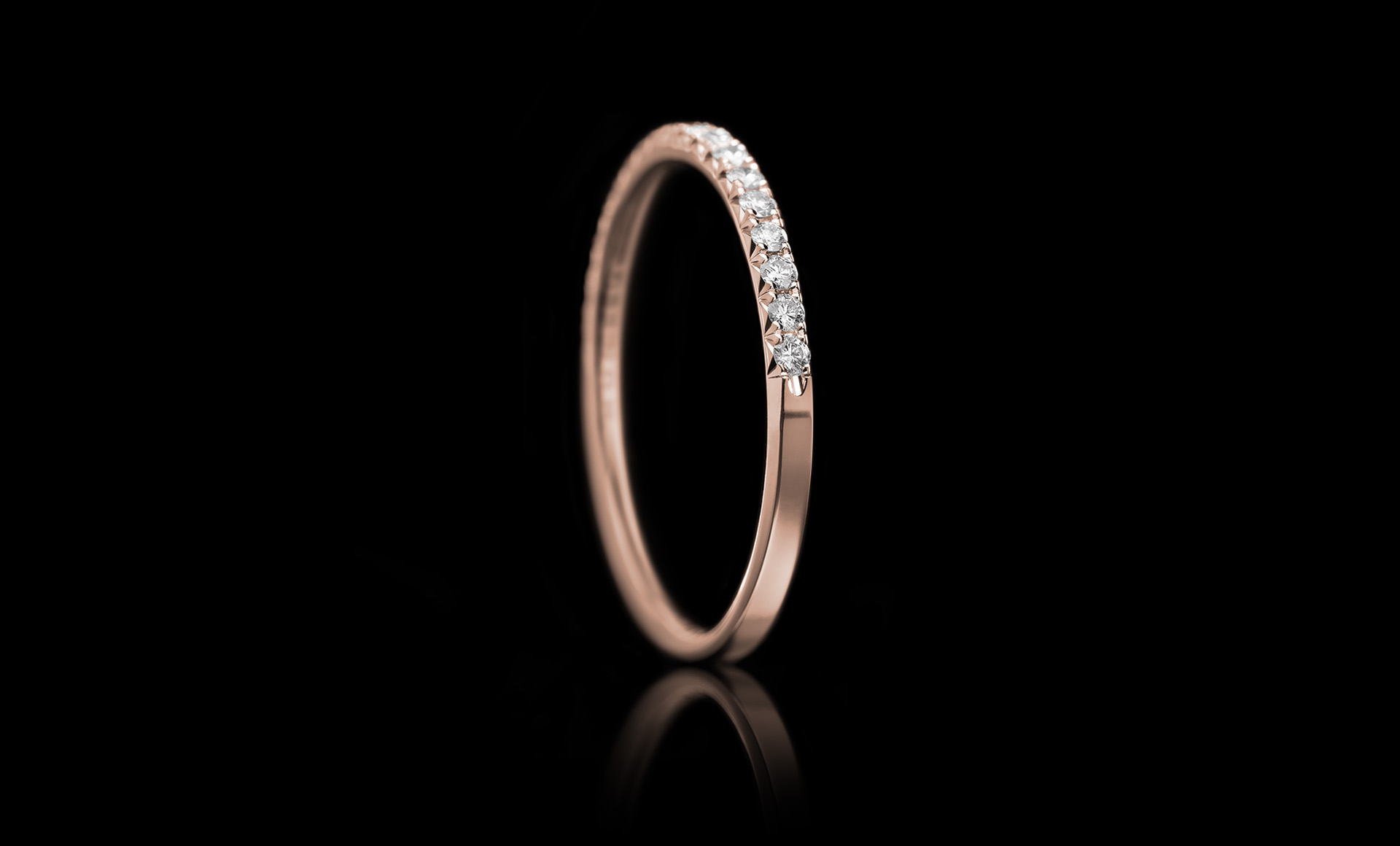 Halo No.5 diamond ring rose
