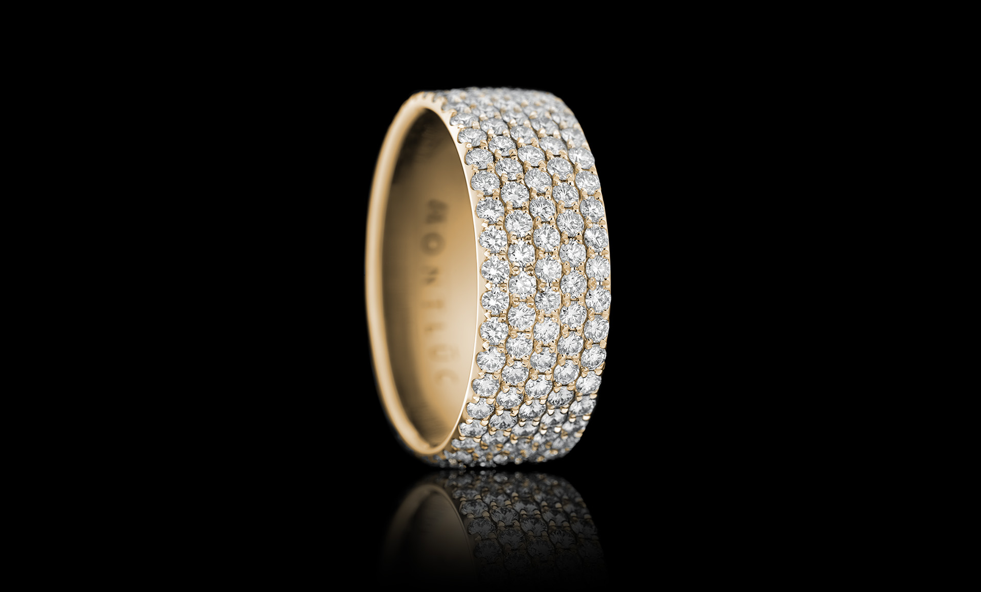 Constellation No.2 diamond ring yellow gold
