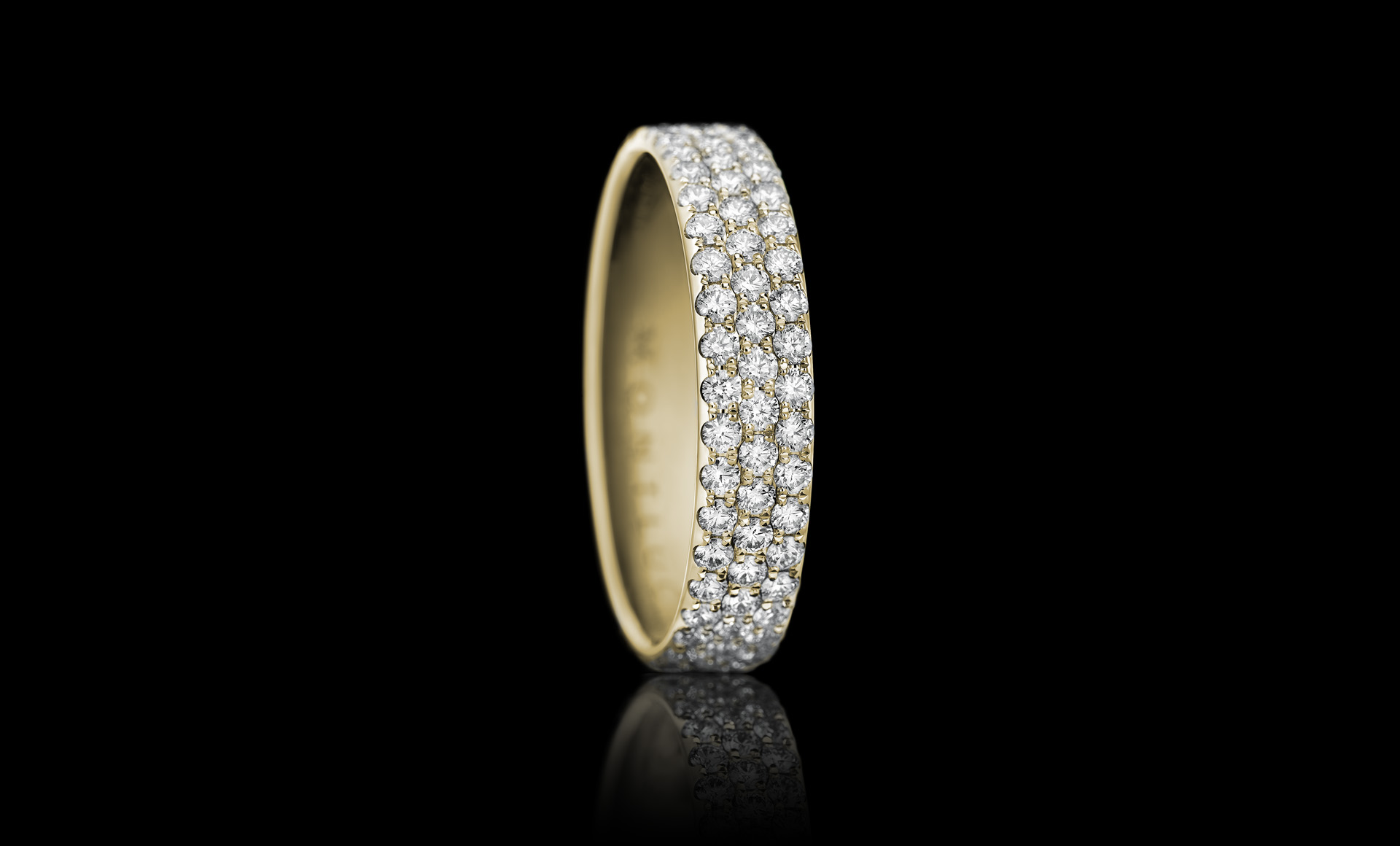 Constellation No.3 diamond ring yellow gold
