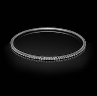 Halo No.6 – a full set diamond bangle.