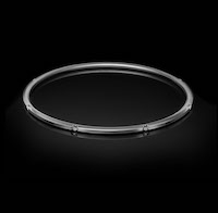 Halo No.7 – a semi set diamond bangle.