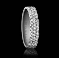 Constellation No.3 – a beautiful 3-row diamond ring.