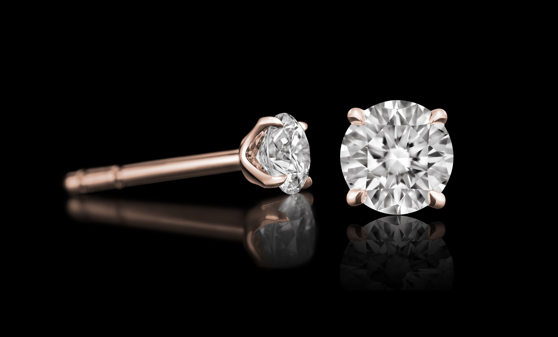 Quasar No.1 diamond earring rose
