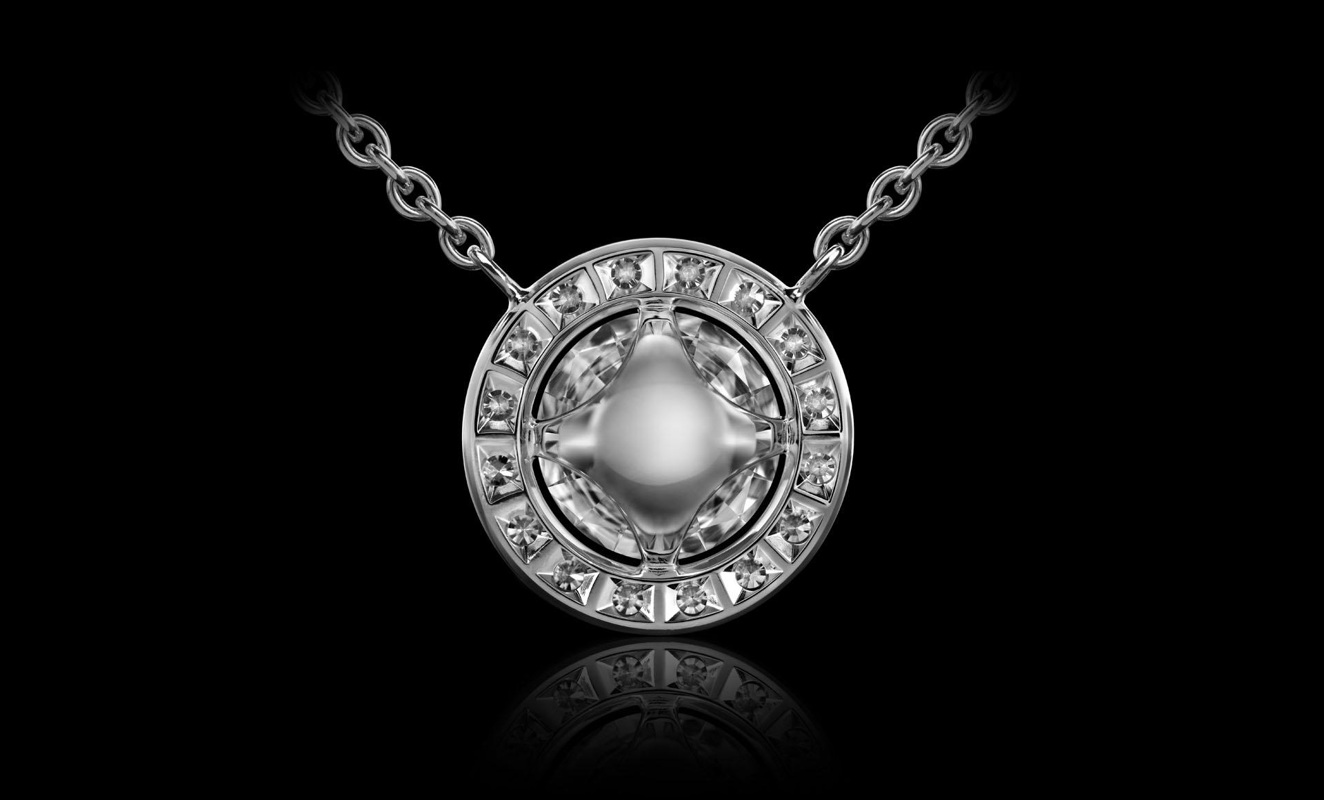 Orbit No.4 - Diamond pendant back