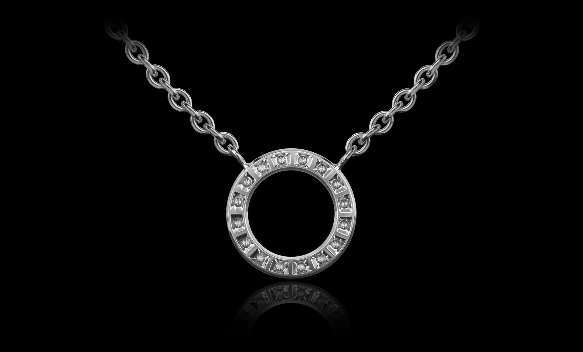 Orbit No.3 - Diamond pendant back