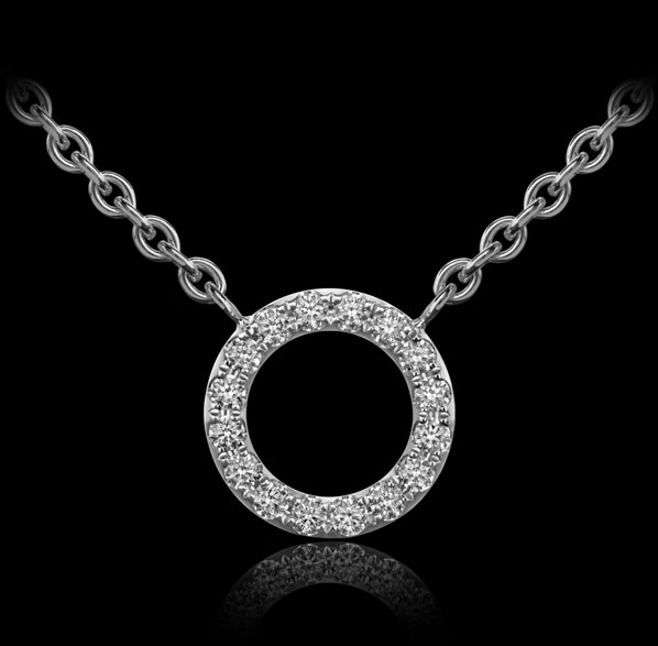 Orbit No.3 - Diamond pendant