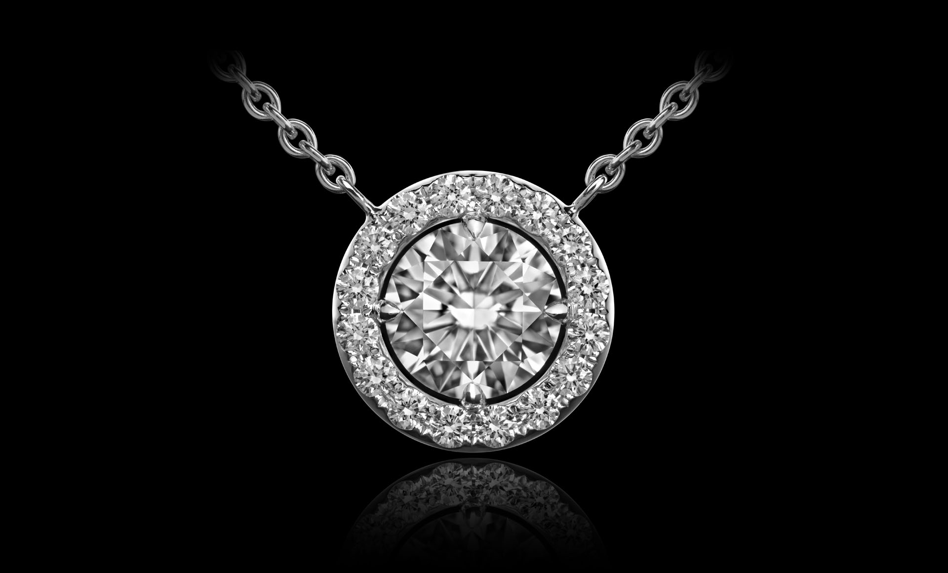 Orbit No.4 - Diamond pendant