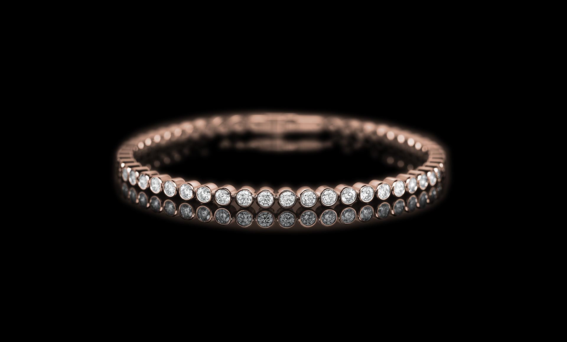 Meridian Diamond bracelet - rose gold