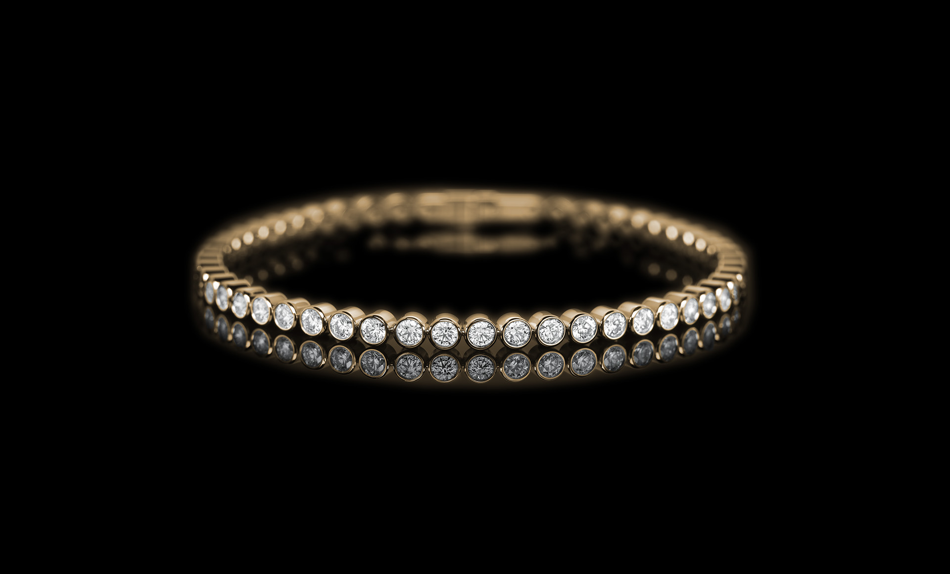 Meridian Diamond bracelet - yellow gold