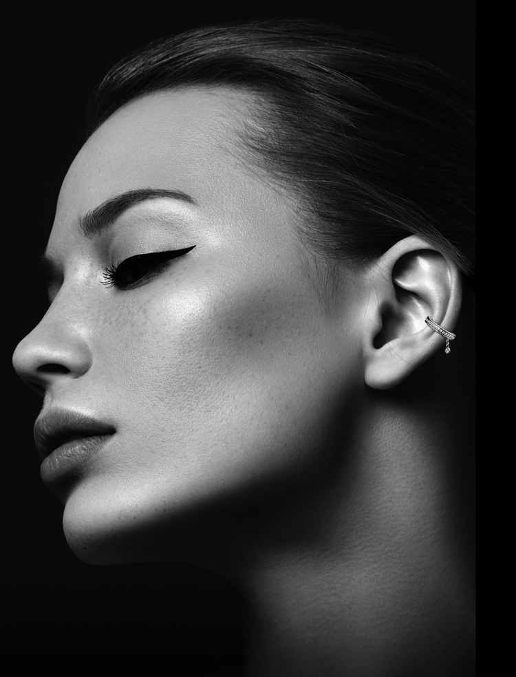 Montluc Diamond Earring Cuff No.1 on Model
