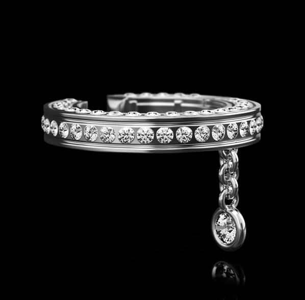 Montluc Diamond Earring Cuff No.1