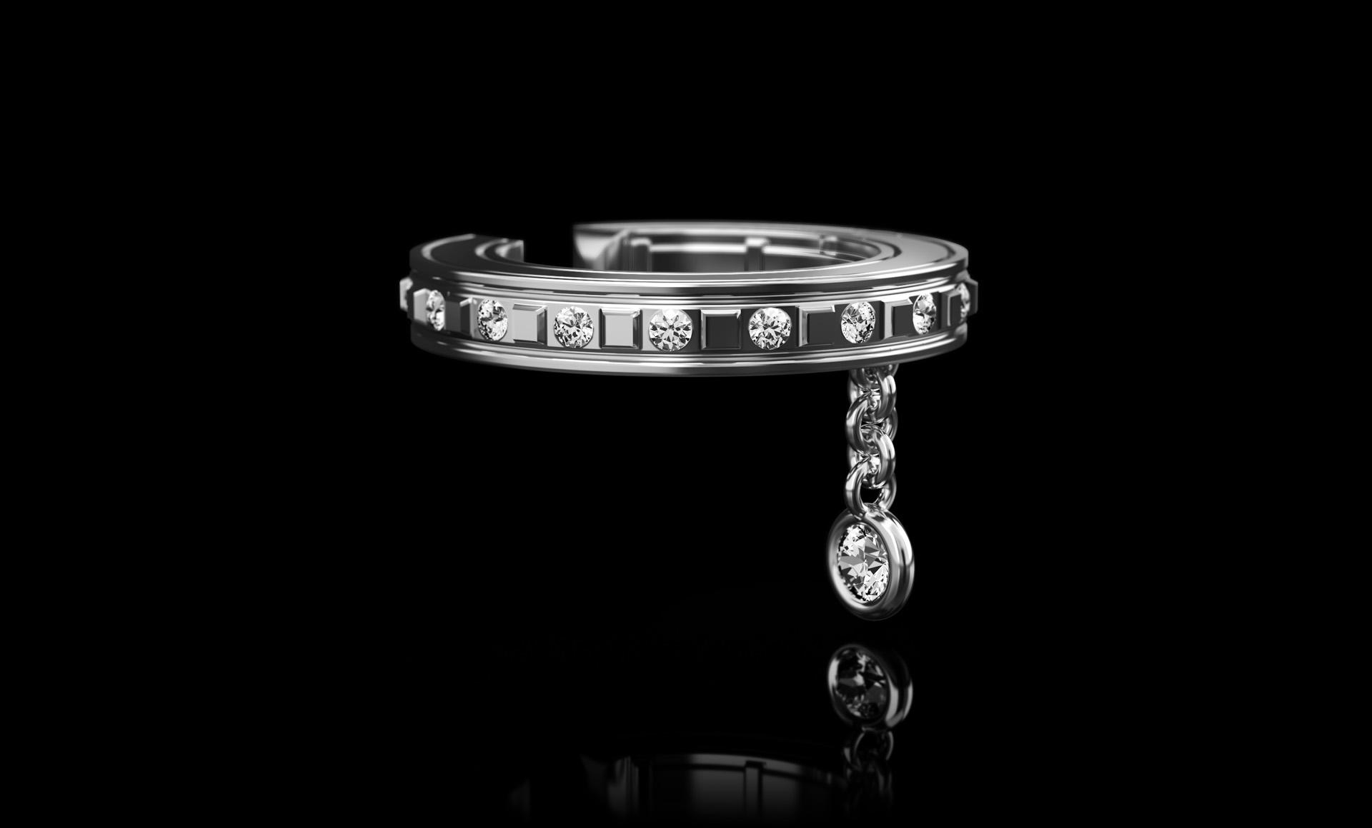 Montluc Diamond Earring Cuff No.2